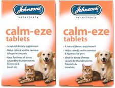 CALM EZE 2 PACKS 36 TABLETS NERVOUS DOGS CATS BOMBFIRE NIGHT GROOMING TRAVEL