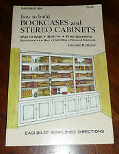 How to Build Bookcases and Stereo Cabinets (Easi Bild 804) Book by Donald Brann