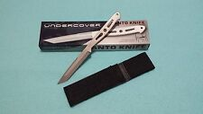 United Cutlery Undercover Slim Line Silver Tanto Tactical Fighter Dagger Knife