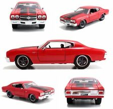 JADA 1:24 DISPLAY FAST & FURIOUS - DOM'S CHEVROLET CHEVELLE SS Diecast Car 97309
