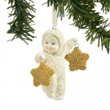 Department 56 Snowbabies New Snow Dream TWO GOLD STARS Snowbaby Ornament 4045811