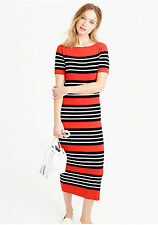 NWT J Crew Collection striped sweater dress Size M Sunset Black SU16 $148 F1530