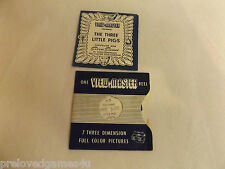 THE THREE LITTLE PIGS SAWYERS VIEW-MASTER REELS STEREO PICTURES WITH BOOKLET,VGC