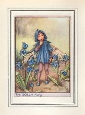 FLOWER FAIRIES VINTAGE PRINT : THE SCILLA FAIRY