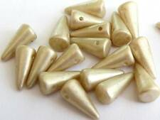 CZECH GLASS CONE/SPIKE BEADS FOR JEWELLERY MAKING - 8/5mm 10/5mm 14/5mm 21/9mm