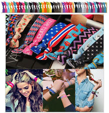 10pcs Accessories Pattern Colorful No Crease Hair Ties Ponytail Bracelets Rope