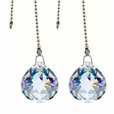 Crystal Ball Prism 4PCS  Dazzling Crystal Ceiling FAN Pull Chains (40mm)