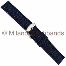 18mm Morellato Spinnaker Blue Kevlar Red Lorica Padded Stitched Mens Watch Band