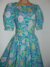 Laura Ashley vintage 80's classic English, soft cotton summer tea dress, 14 UK