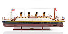 "RMS Titanic Cruise Ship Ocean Liner 32"" Built Wooden Model Boat Assembled"