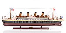 "RMS Titanic Cruise Ship Ocean Liner 32"" Built Wooden Model Boat Assembled"