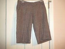 STOOSH JUNIOR'S SIZE 3  BURGUNDY PLAID SHORTS KNICKERS CROPPED PANTS TWEED LOOK