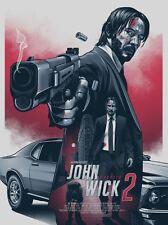 John Wick 2 Alternative Movie Poster Art by Amien Juugo No. /50 NT Mondo