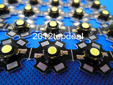 10pcs 3W cool white High Power Led Bead Chip 3 Watt 6000-6500k with 20mm pcb