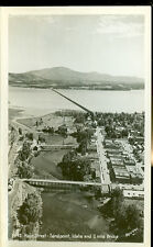 SANDPOINT, IDAHO-MAIN STREET-2 MILE BRIDGE-ROSS HALL PHOTO-RPPC-(RP#1-999)