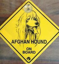 12cm Roadsign Schild mit Saugnapf AFGHAN HOUND Afghane Afghanischer Windhund
