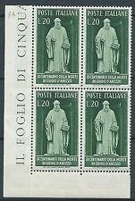 1950 ITALIA GUIDO D'AREZZO QUARTINA LUSSO MNH ** - JU001