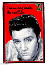 """4.5"""" ELVIS PRESLEY KING ROCK N ROLL CHRISTMAS HOLIDAY FABRIC APPLIQUE IRON ON"""