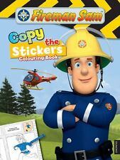 Fireman Sam Copy the Sticker Colouring Book (Paperback) NEW FREE P&P