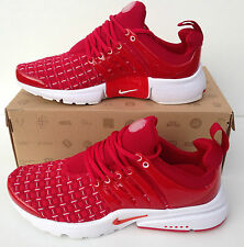 Neuf nike air presto taille uk 7.5 hommes rouge baskets chaussures de course shox