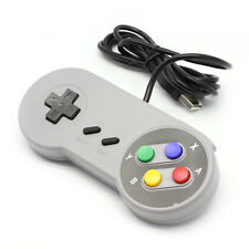 Retro USB Famicom Controller Gamepad For Super Nintendo SNES Windows PC
