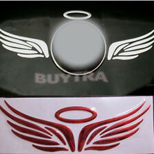Excellent Fad Red 3D Angel Fairy Wings Car Logo Emblem Badge Decal Sticker HFCA