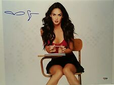 Megan Fox signed sitting in desk 11x14 photo PSA/DNA COA