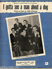 THE HORRIE DARGIE QUINTET I Gotta See A Man About A Dog SHEET MUSIC