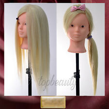 90% REAL HUMAN HAIR Training Head Mannequin for Salon Makeup & Hairdressing