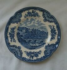 VINTAGE Blue & White JOHNSON BROTHERS 'OLD BRITAIN CASTLES' Ironstone PLATE 16cm