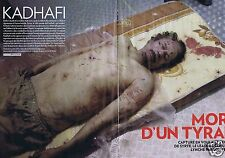 Coupure de presse Clipping 2011 Kadhafi  (16 pages)