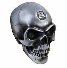 NIB Large Metalized Colored Resin Skull Golden Tooth V41 Alchemy Gothic Vault