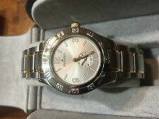 Mens Movado Gentry 2-Tone 18K Gold tone & SS watch - Silver Dial