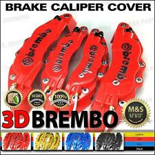 NEW 3D Universal Style Brembo Brake Caliper Cover Silver logo 4 pcs Red BC04