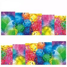 Full Wrap Water Transfers Nail Art Stickers Decals Rainbow Neon Bubbles (B171)