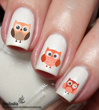 Owl cute cartoon Nail Art Water Transfer decal sticker Tattoo 56