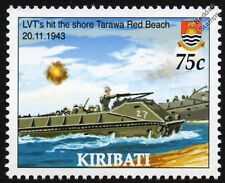 WWII 1943 BATTLE OF TARAWA Red Beach - LVT (Landing Vehicle Tracked) Stamp