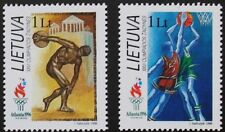 Olympic games stamps, Basketball, discus 1996, Lithuania, SG ref: 623 & 624, MNH