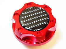 DODGE CHARGER CHALLENGER V8 CARBON FIBER HEMI BILLET ENGINE OIL FILLER CAP RED