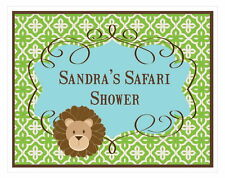 Personalized Jungle Safari Theme Sign Baby Shower Decoration