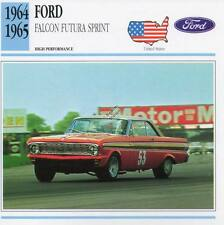 1964-1965 FORD FALCON FUTURA SPRINT Classic Car Photo/Info Maxi Card