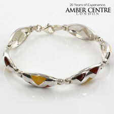 Amber Inlaid in 925 Sterling Silver Bracelet RRP£220!!!-BR028