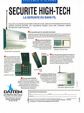 PUBLICITE ADVERTISING  1991   DAITEM  sécurité  HI-TECH