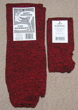 Leg warmers and arm warmers RED Denim look Made in the USA Warm NWT FREE S/H