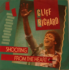 """CLIFF RICHARD - SHOOTING FROM THE HEART  - 7"""" SINGLE (F975)"""