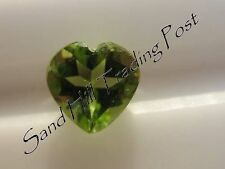 Natural 6mm Loose Heart Cut .79ct Peridot AAA Quality