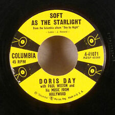 "Doris Day Paul Weston Soft as the Starlight Walk A Chalk LIne 7"" 45 Columbia VG"
