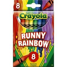 Crayola Melted Crayon Art Crayons - Runny Rainbow - Package of 8