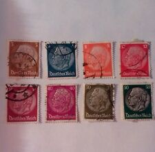 German empire stamps - used- 1933-Paul Von Hindenburg-new values- germany