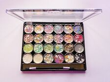 Saffron 24 Colour Shimmer Gel Eye Shadow Palette Round 02